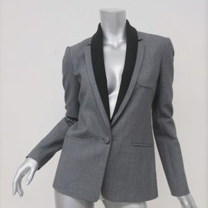 Theory Blazer Donelly Gray Stretch Suiting